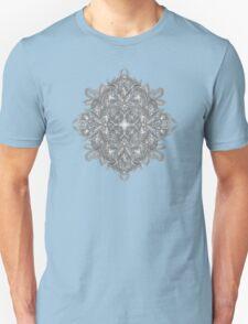 Vintage Winter Monochrome Doodle Unisex T-Shirt