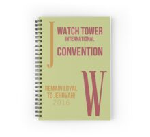 Remain Loyal to Jehovah! 2016 Convention of Jehovah's Witnesses (July 1931 Program) Spiral Notebook
