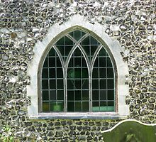Arched church window by KatDoodling