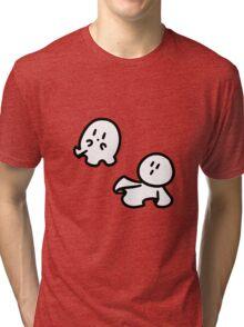 Cute Tiny Ghosts Tri-blend T-Shirt