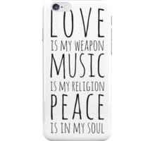 Love, Music & Peace iPhone Case/Skin