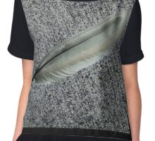Freaky Feather Chiffon Top