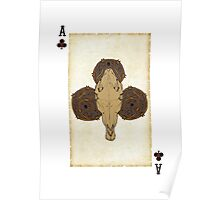 Plugged Nickel Ace of Clubs Poster