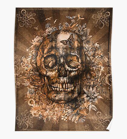 floral skull 3 Poster