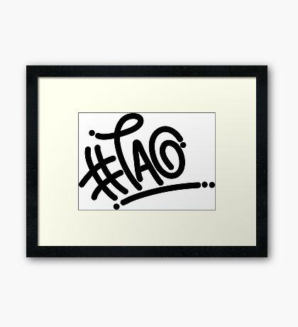 #tag Framed Print