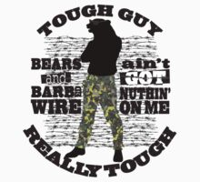 Tough guy macho man overkill bears barbed wire One Piece - Short Sleeve