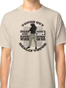 Tough guy macho man overkill bears barbed wire Classic T-Shirt