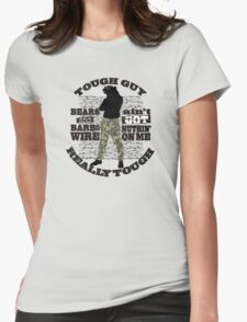 Tough guy macho man overkill bears barbed wire Womens Fitted T-Shirt