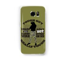 Tough guy macho man overkill bears barbed wire Samsung Galaxy Case/Skin