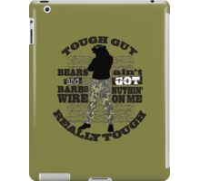 Tough guy macho man overkill bears barbed wire iPad Case/Skin