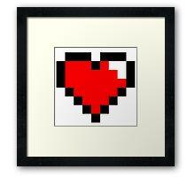 8-Bit heart Framed Print