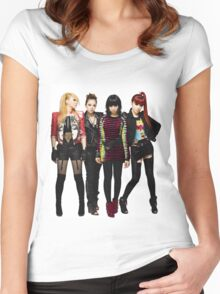 2NE1 CL DARA BOM MINZY KPOP Women's Fitted Scoop T-Shirt