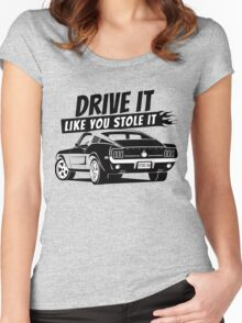Drive it - fastback Women's Fitted Scoop T-Shirt