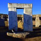 Sundown at Texas Stonehenge  by Charmiene Maxwell-Batten