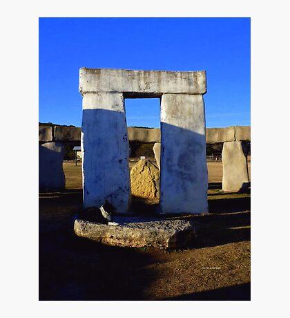 Sundown at Texas Stonehenge  Photographic Print