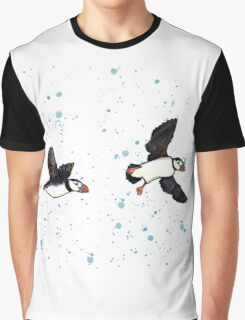 Puffins in flight Graphic T-Shirt