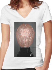 Brain Power Women's Fitted V-Neck T-Shirt
