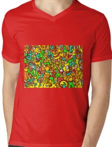 """BOINGO"" animal doodle colour cartoon Mens V-Neck T-Shirt"