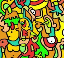 """BOINGO"" animal doodle colour cartoon Sticker"