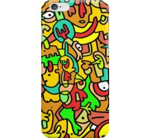 """BOINGO"" animal doodle colour cartoon iPhone Case/Skin"