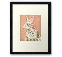 Flower Bunny Framed Print