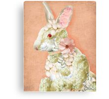 Flower Bunny Canvas Print