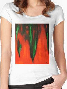 Born in the fire of life Women's Fitted Scoop T-Shirt
