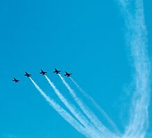 Blue Angels over Lake Washington by jcimagery