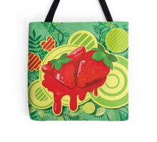 Cool Strawberry Graffiti Street Art Tote Bag