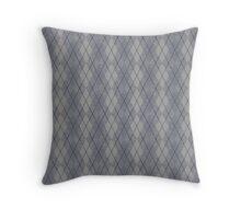 Gray and Blue Argyle Throw Pillow