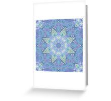 Faded Fractal Mandala Pattern Greeting Card
