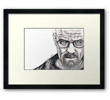 Heisenberg - Walter White Portrait  Framed Print
