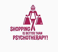 Shopping Is Better Than Psychotherapy! (Magenta) Women's Fitted Scoop T-Shirt