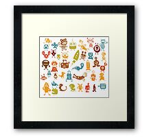 monsters dreams anime cartoon color Framed Print