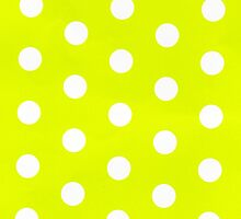 polka dots in lime by Lexie Fenn