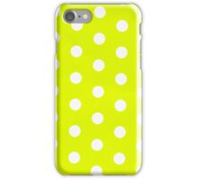 polka dots in lime iPhone Case/Skin