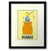 Kawaii and Cute Animals Framed Print
