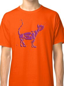 Cat Universe Purple Overlay Classic T-Shirt