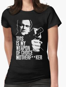 Quentin Tarantino - Weapon of Choice Womens Fitted T-Shirt