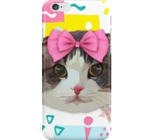 Pink Bow Cat iPhone Case/Skin