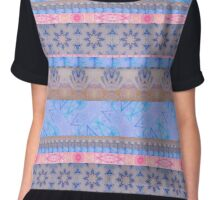 Lavender and Pink, Purple and Blue - Ribbons Chiffon Top