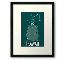 Cute and Kawaii animals /NEGATIVE VER. Framed Print