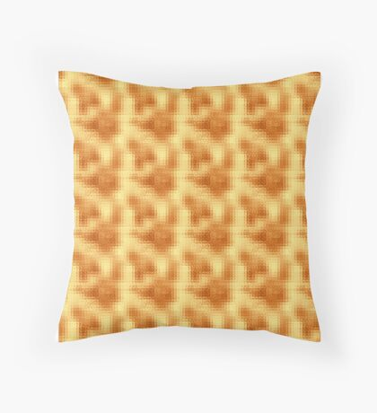 Shimmering Gold Copper Throw Pillow