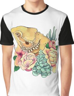 Pastel Bearded Dragon Graphic T-Shirt