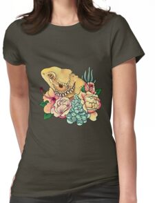 Pastel Bearded Dragon Womens Fitted T-Shirt