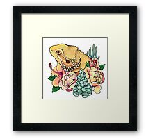 Pastel Bearded Dragon Framed Print