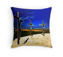 Darkness at the Crucifixion of Jesus Throw Pillow