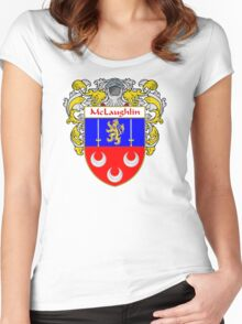 McLaughlin Coat of Arms/Family Crest Women's Fitted Scoop T-Shirt