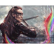 Warrior with rainbow cape Photographic Print