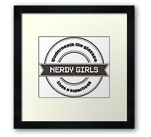 Nerdy Girls Framed Print